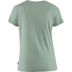 Fjällräven Arctic Fox Print Camiseta Mujer, gris